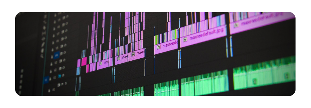 Photo of a sound editing timeline.