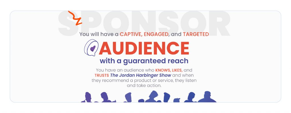 A screenshot of Jordan Harbinger's sponsor pitch landing page.
