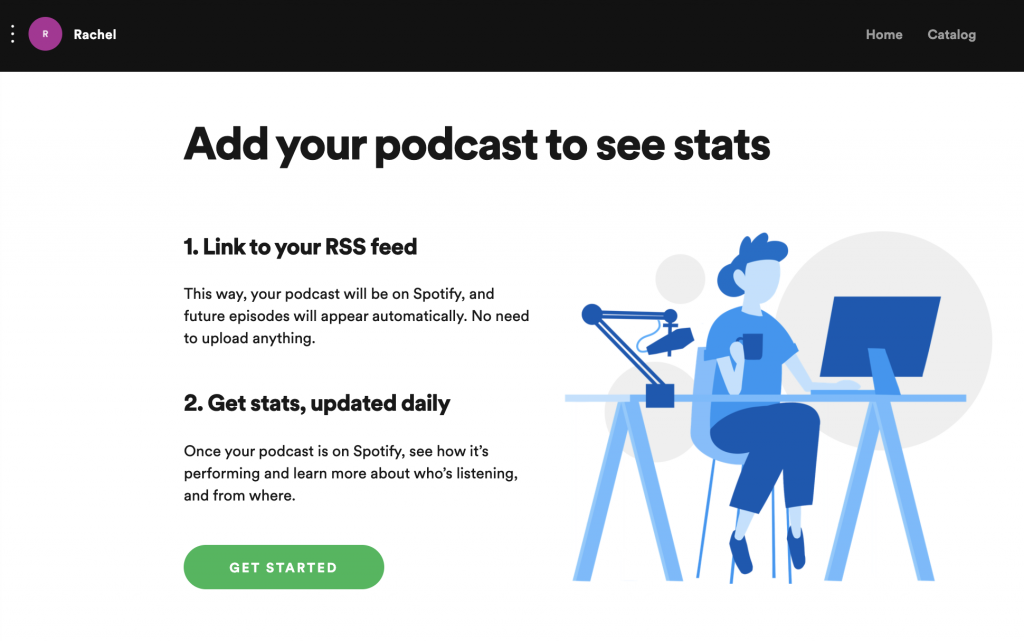 A screenshot of the Spotify for podcasters submission form.